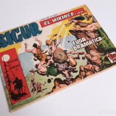 Tebeos: SIGUR EL WIKINGO VIKINGO FUGA DRAMÁTICA SELECCIÓN DE AVENTURAS 133 TORAY 1958 JOSE ORTIZ. Lote 231291630