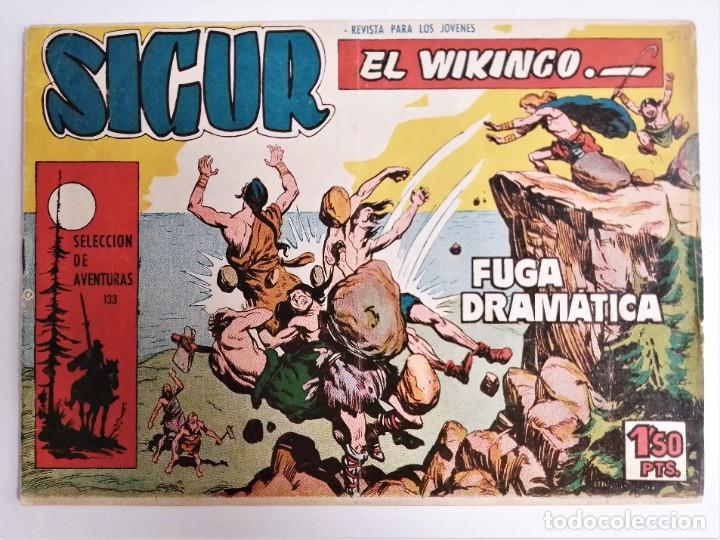 Tebeos: SIGUR EL WIKINGO VIKINGO FUGA DRAMÁTICA SELECCIÓN DE AVENTURAS 133 TORAY 1958 JOSE ORTIZ - Foto 2 - 231291630
