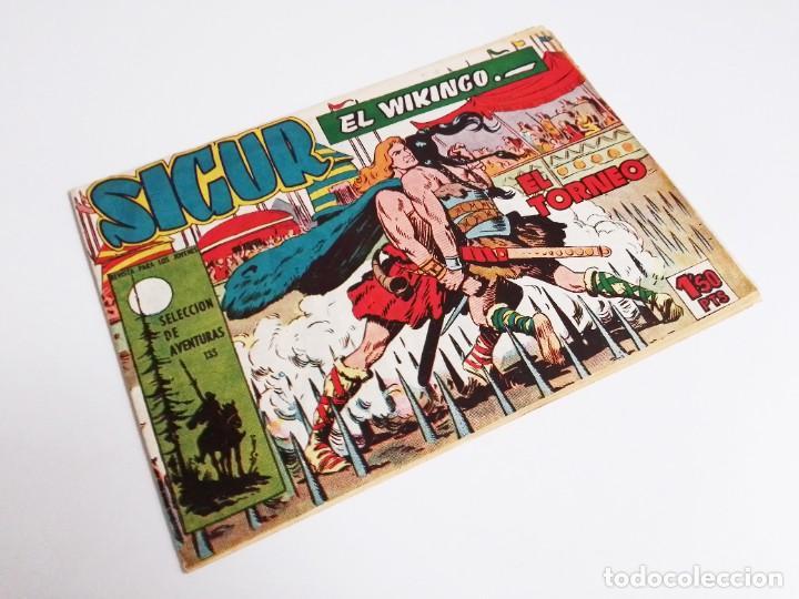 SIGUR EL WIKINGO VIKINGO EL TORNEO SELECCIÓN DE AVENTURAS 135 TORAY 1958 JOSE ORTIZ (Tebeos y Comics - Toray - Otros)