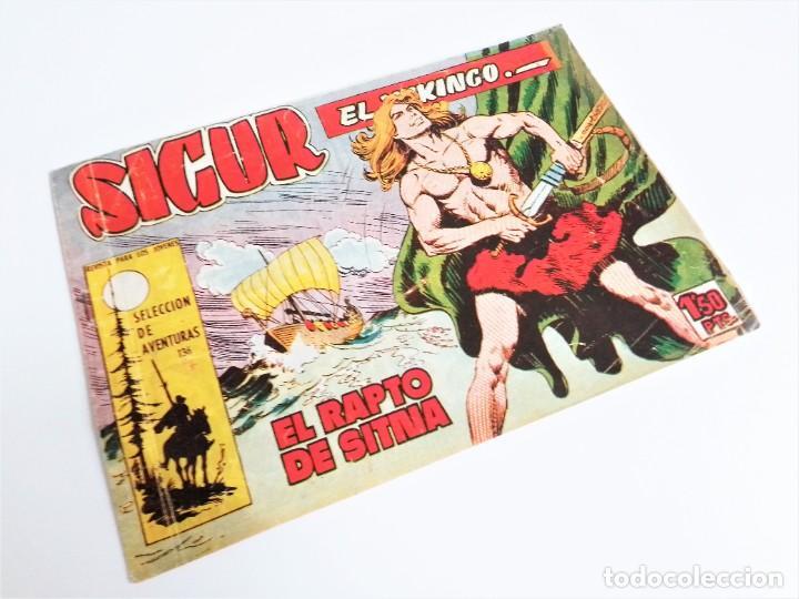 SIGUR EL WIKINGO VIKINGO EL RAPTO DE SITMA SELECCIÓN DE AVENTURAS 136 TORAY 1958 JOSE ORTIZ (Tebeos y Comics - Toray - Otros)