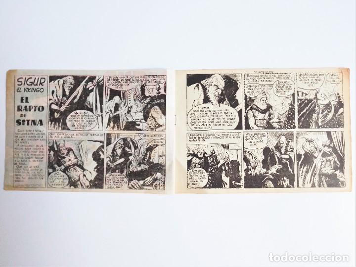 Tebeos: SIGUR EL WIKINGO VIKINGO EL RAPTO DE SITMA SELECCIÓN DE AVENTURAS 136 TORAY 1958 JOSE ORTIZ - Foto 4 - 231296425