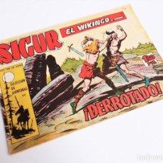 Tebeos: SIGUR EL WIKINGO VIKINGO 12 ¡DERROTADO! SELECCIÓN DE AVENTURAS 141 TORAY 1958 JOSE ORTIZ. Lote 231302160