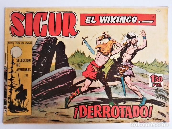 Tebeos: SIGUR EL WIKINGO VIKINGO 12 ¡DERROTADO! SELECCIÓN DE AVENTURAS 141 TORAY 1958 JOSE ORTIZ - Foto 2 - 231302160