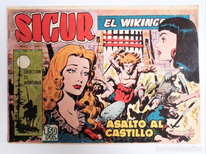 Tebeos: SIGUR EL WIKINGO VIKINGO 14 ASALTO AL CASTILLO SELECCIÓN DE AVENTURAS 143 TORAY 1958 JOSE ORTIZ - Foto 2 - 231303950