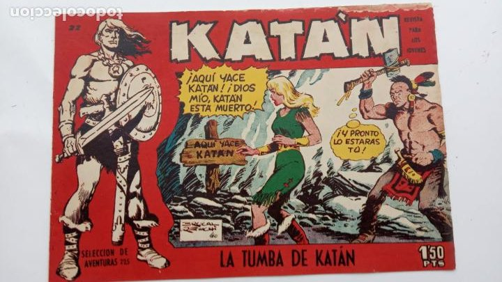Tebeos: KATAN ORIGINALES NºS 14 Y 22 - EDI. TORAY 1960 - BROCAL REMOI DIBUJOS - Foto 3 - 231591305