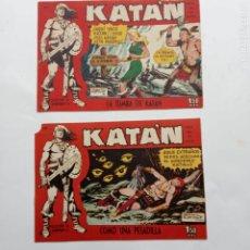 Tebeos: KATAN ORIGINALES NºS 14 Y 22 - EDI. TORAY 1960 - BROCAL REMOI DIBUJOS. Lote 231591305