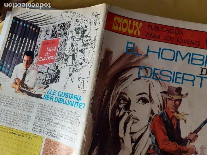 Tebeos: SIOUX- Nº 151 - EL HOMBRE DEL DESIERTO -1970-GRAN JUAN MULERO-BUENO-MUY DIFÍCIL-LEAN-4245 - Foto 3 - 232323175