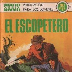 Tebeos: SIOUX- Nº 163- EL ESCOPETERO- GRAN JUAN MULERO-1970-CASI BUENO-MUY DIFÍCIL-LEAN-4246. Lote 232329400