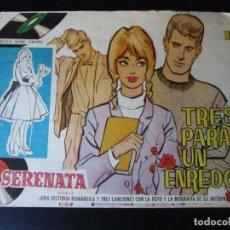 Tebeos: SERENATA (1960, TORAY) 189 · 1-XI-1963 · TRES PARA UN ENREDO. Lote 232331605