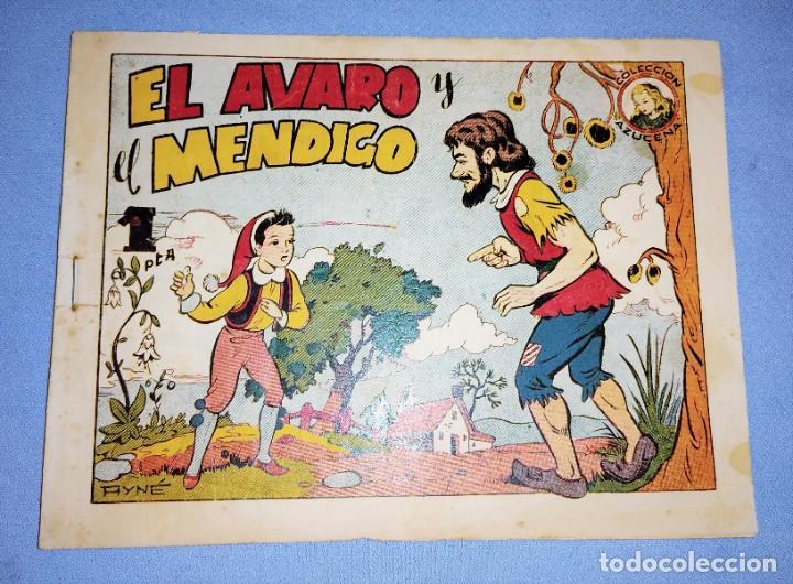 EL AVARO Y EL MENDIGO COLECCION AZUCENA DE TORAY AÑOS 40 ORIGINAL (Tebeos y Comics - Toray - Azucena)
