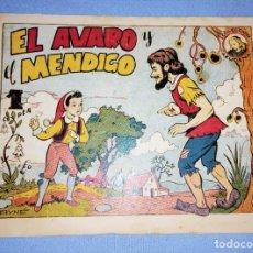 Tebeos: EL AVARO Y EL MENDIGO COLECCION AZUCENA DE TORAY AÑOS 40 ORIGINAL. Lote 232550130