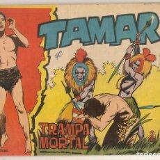 Tebeos: TAMAR. Nº 160. TRAMPA MORTAL. TORAY, 1961.(C/A19). Lote 232593730