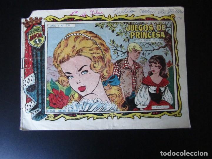 ALICIA (1955, TORAY) 210 · 5-VI-1959 · JUEGOS DE PRINCESA (Tebeos y Comics - Toray - Alicia)
