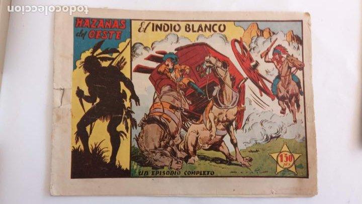 Tebeos: HAZAÑAS DEL OESTE ORIGINALES NºS - 3,7,9 - EDI, TORAY 1950 - BADÍA, DARNÍS, LONGARÓN DIBUJOS - Foto 2 - 234494240
