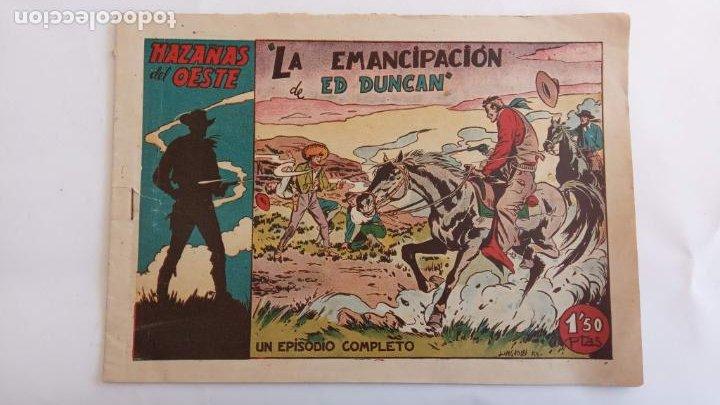 Tebeos: HAZAÑAS DEL OESTE ORIGINALES NºS - 3,7,9 - EDI, TORAY 1950 - BADÍA, DARNÍS, LONGARÓN DIBUJOS - Foto 4 - 234494240
