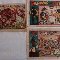 Tebeos: HAZAÑAS DEL OESTE ORIGINALES NºS - 3,7,9 - EDI, TORAY 1950 - BADÍA, DARNÍS, LONGARÓN DIBUJOS. Lote 234494240