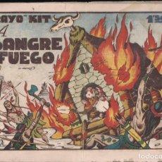Tebeos: RAYO KIT Nº 14: A SANGRE Y FUEGO. Lote 235533490