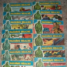 Tebeos: HAZAÑAS BELICAS (AZUL) (TORAY) LOTE CON 19 NUMEROS DIFERENTES. Lote 236226345