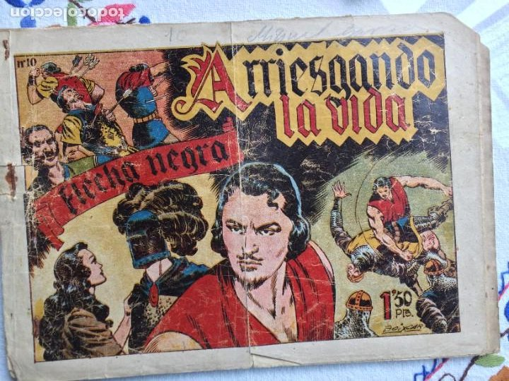 FLECHA NEGRA ARRIESGANDO LA VIDA (Tebeos y Comics - Toray - Flecha Negra)