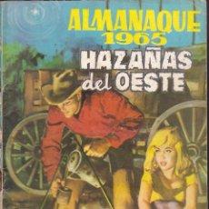 Tebeos: COMIC ALMANAQUE 1965 HAZAÑAS DEL OESTE NOVELA GRAFICA. Lote 238552350
