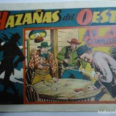 BDs: MUY RARO Nº 1 HAZAÑAS DEL OESTE Nº 1 AS DE CORAZONES ORIGINAL AÑO 49 MIDE 18 X 25 CM.. Lote 238594215