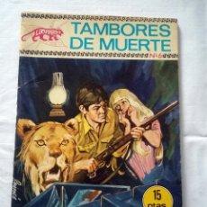 Tebeos: COLECCION LEOPARDO Nº 6 TAMBORES DE MUERTE. Lote 239401835