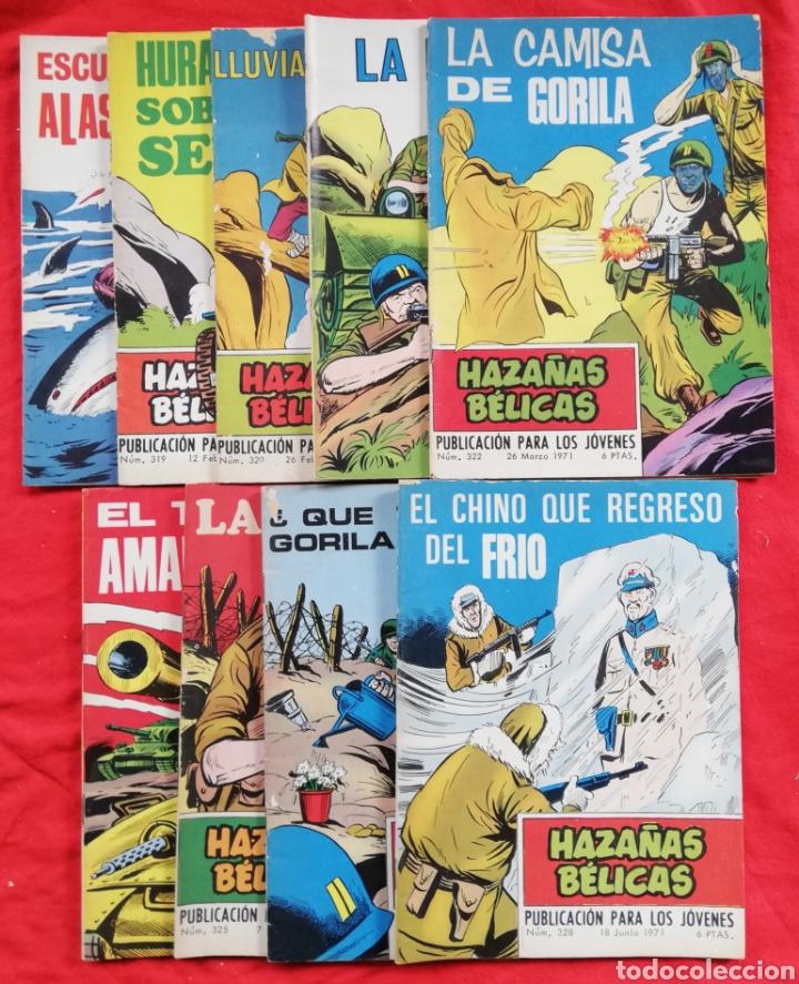 HAZAÑAS BÉLICAS - 1971 - LOTE DE 9 EJEMPLARES EN BUEN ESTADO - ED. TORAY (Tebeos y Comics - Toray - Hazañas Bélicas)