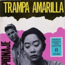 Tebeos: ESPIONAJE-NOVELA GRÁFICA- Nº 38 -TRAMPA AMARILLA-1966-VICENTE FARRÉS-APASIONANTE-CORRECTO-LEA-4298. Lote 241018990