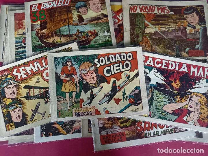 Tebeos: LOTE DE 35 HAZAÑAS BELICAS -NUMEROS : 1,2,3,4,...VER NUMERACION -ORIGINALES - Foto 3 - 242945860