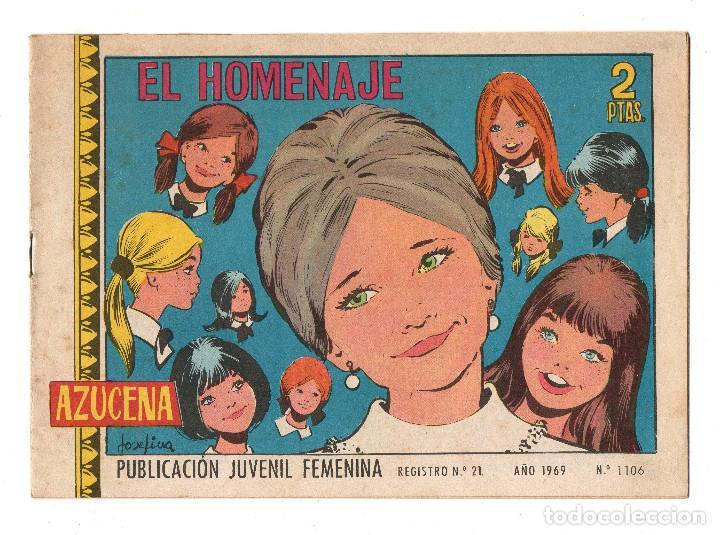 AZUCENA Nº 1106 (TORAY 1969) (Tebeos y Comics - Toray - Azucena)