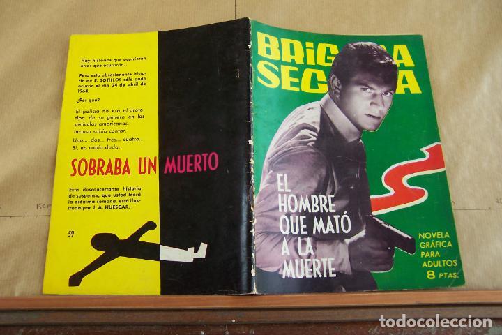 TORAY,- BRIGADA SECRETA NOVELA GRAFICA PARA ADULTOS Nº 59 (Tebeos y Comics - Toray - Brigada Secreta)