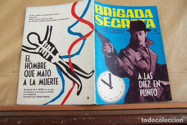 TORAY,- BRIGADA SECRETA NOVELA GRAFICA PARA ADULTOS Nº 58 (Tebeos y Comics - Toray - Brigada Secreta)