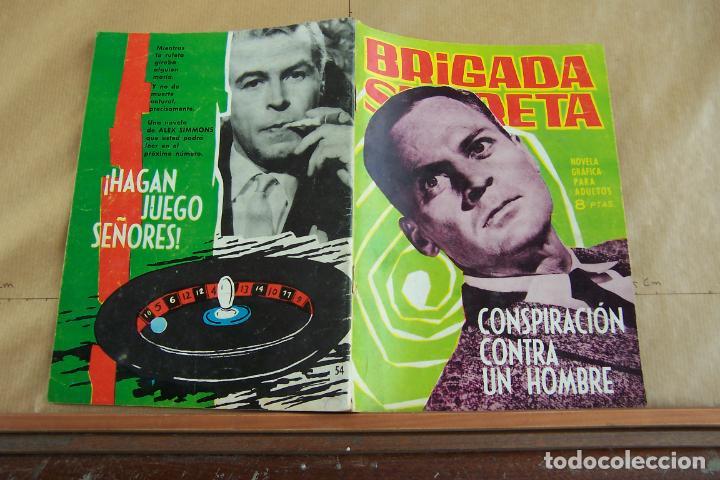 TORAY,- BRIGADA SECRETA NOVELA GRAFICA PARA ADULTOS Nº 54 (Tebeos y Comics - Toray - Brigada Secreta)
