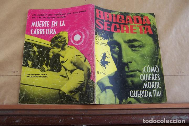 TORAY,- BRIGADA SECRETA NOVELA GRAFICA PARA ADULTOS Nº 52 (Tebeos y Comics - Toray - Brigada Secreta)