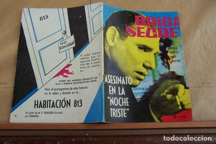 TORAY,- BRIGADA SECRETA NOVELA GRAFICA PARA ADULTOS Nº 41 (Tebeos y Comics - Toray - Brigada Secreta)