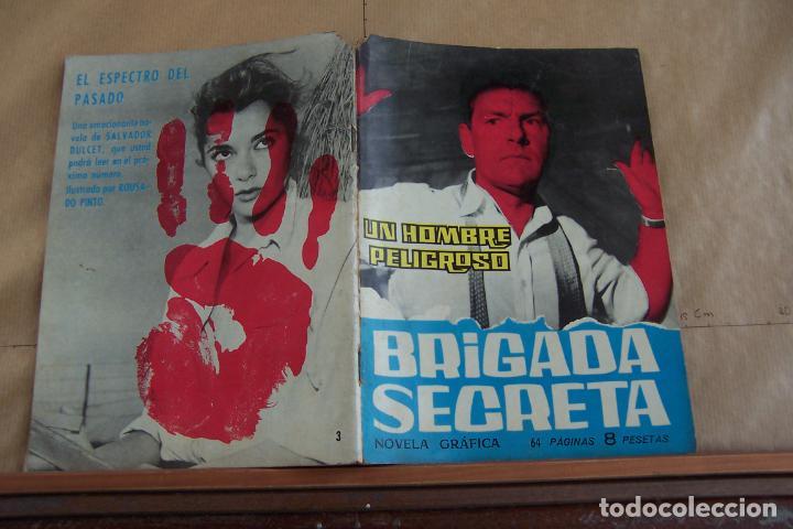 TORAY,- BRIGADA SECRETA NOVELA GRAFICA PARA ADULTOS Nº 3 B/N 64 PAGINAS (Tebeos y Comics - Toray - Brigada Secreta)