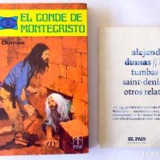 Tebeos: ALEJANDRO DUMAS. EL CONDE DE MONTECRISTO. TORAY. COMIC+NOVELA/ LAS TUMBAS DE SAINT-DENIS Y OTROS REL. Lote 247453860