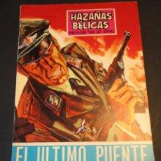 Tebeos: HAZAÑAS BELICAS (1961, TORAY) -NOVELA GRAFICA- 186 · 8-XI-1968 · EL ÚLTIMO PUENTE. Lote 247482190