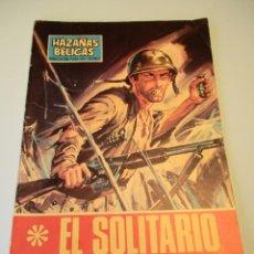 Tebeos: HAZAÑAS BELICAS (1961, TORAY) -NOVELA GRAFICA- 195 · 5-I-1968 ·EL SOLITARIO. Lote 247580390