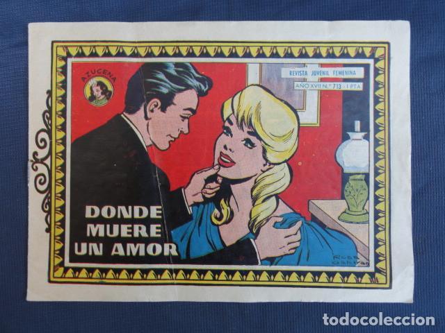Tebeos: 7 COMICS REVISTAS JUVENIL FEMENINA - COLECCIÓN AZUCENA - EDICIONES TORAY. - Foto 8 - 247580495