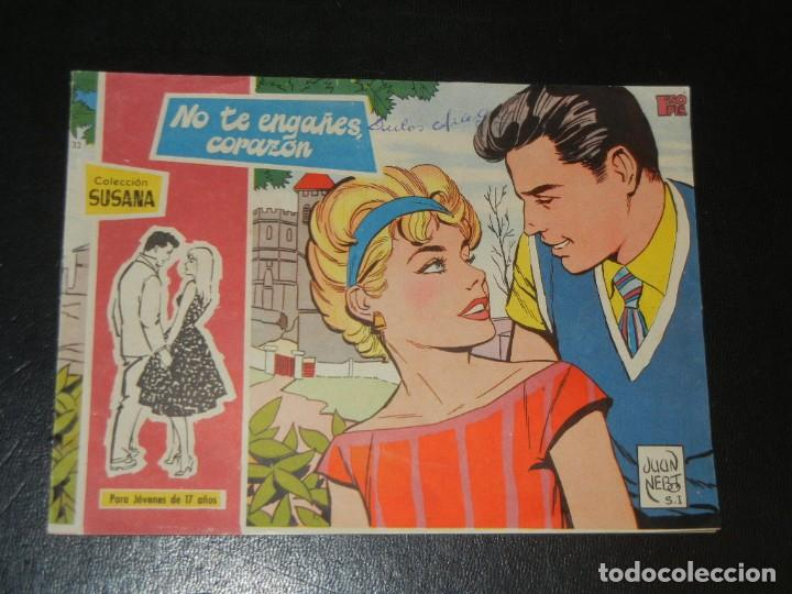 COLECCION SUSANA Nº 33 - TORAY - NO TE ENGAÑES CORAZON (Tebeos y Comics - Toray - Susana)