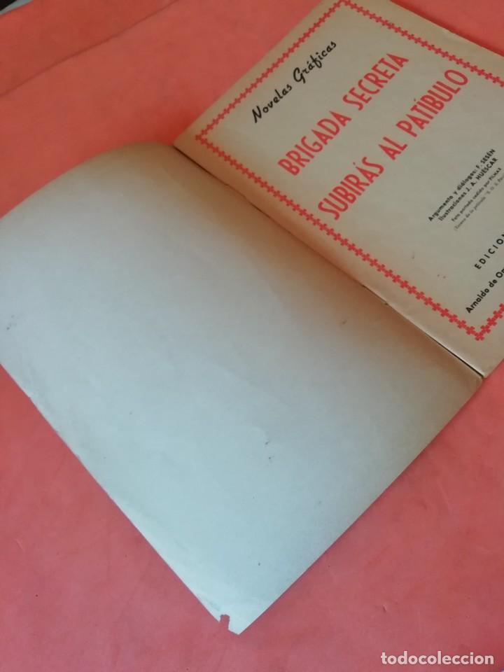 Tebeos: BRIGADA SECRETA. Nº 34. SUBIRAS AL PATIBULO. EDICIONES TORAY 1963 - Foto 2 - 250120465