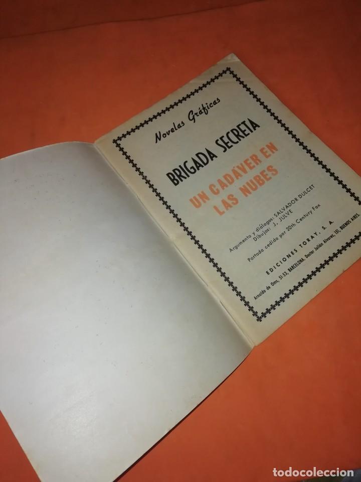 Tebeos: BRIGADA SECRETA. Nº 136. UN CADAVER EN LAS NUBES. EDICIONES TORAY 1963 - Foto 4 - 250121470