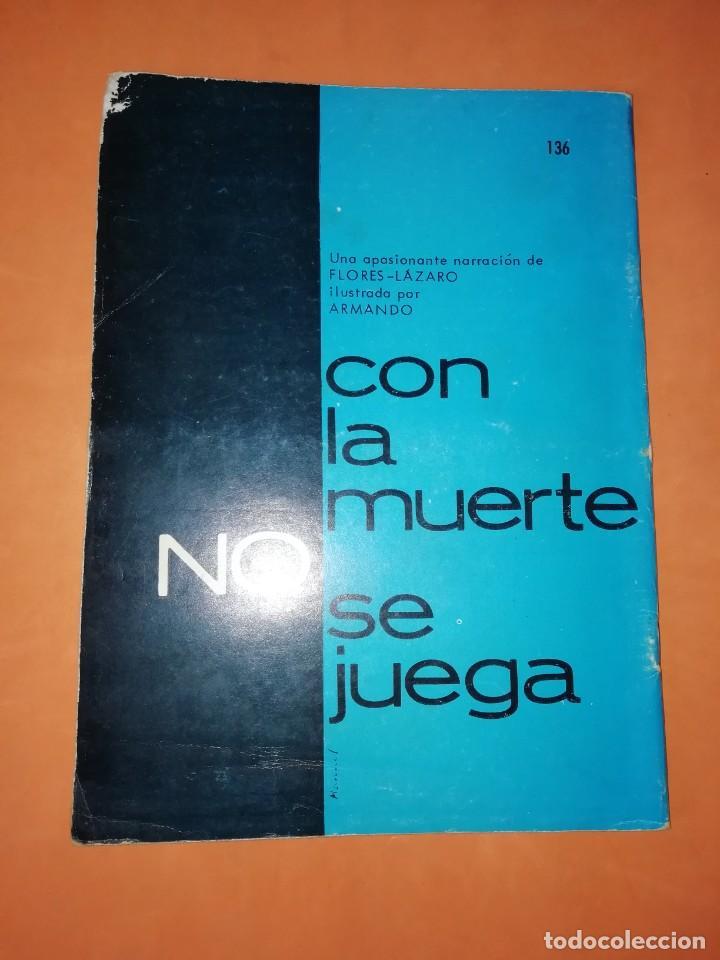 Tebeos: BRIGADA SECRETA. Nº 136. UN CADAVER EN LAS NUBES. EDICIONES TORAY 1963 - Foto 2 - 250121470