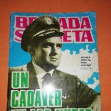 Tebeos: BRIGADA SECRETA. Nº 136. UN CADAVER EN LAS NUBES. EDICIONES TORAY 1963. Lote 250121470