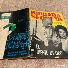 Tebeos: BRIGADA SECRETA Nº 92.EL DIENTE DE ORO - EDICIONES TORAY1965. Lote 251952690