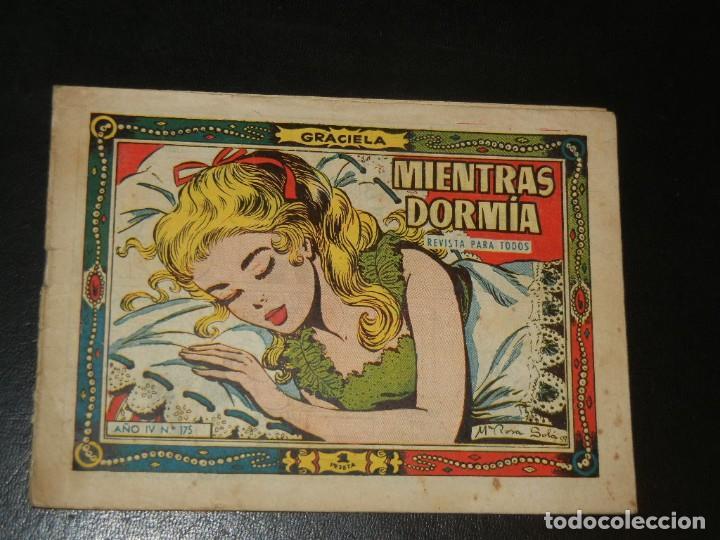 COLECCION GRACIELA Nº175 - TORAY - MIENTRAS DORMIA (Tebeos y Comics - Toray - Graciela)