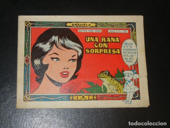 COLECCION GRACIELA Nº206 - TORAY - UNA RANA CON SORPRESA (Tebeos y Comics - Toray - Graciela)