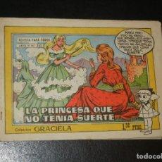 Tebeos: COLECCION GRACIELA Nº263 - TORAY - LA PRINCESA QUE NO TENIA SUERTE. Lote 253010085