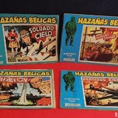 Tebeos: COLECCION DE 4 COMICS HAZAÑAS BELICA. Lote 255375845